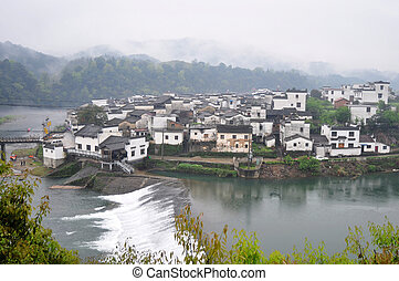 Chinese ancient town - Landscape of a famous Chinese ancient...