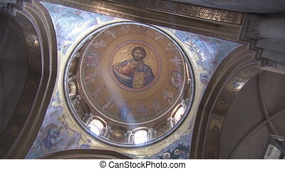 Holy Sepulcher dome 2 - painted on the inside of the dome of...