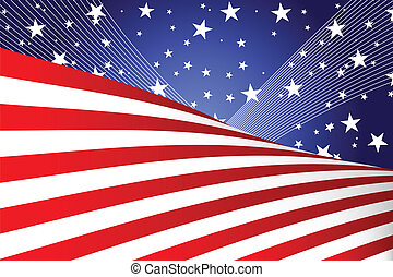 Fourth of July banner - A vector illustration of a Fourth of...