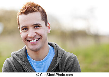 Mixed race man smiling - A shot of a mixed race man smiling...