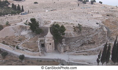 Jerusalem cemetery - store scrolls in Jerusalem cemetery