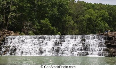 Devils Den State Park - This is the Spillway Waterfall at...