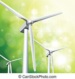 Green energy concept background, vector