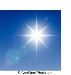 Vector sun - Realistic vector sun with lens flares