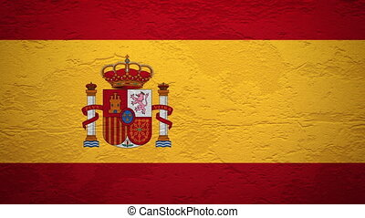 SPAIN flag on wall explosion