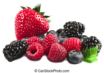 Fresh berries - Berries a strawberry a raspberry a bilberry...