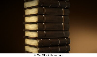 Books stacks in depth of field - Books stacks in depth of...