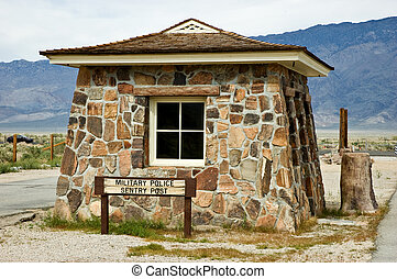 Manzanar sentry post - Manzanar War Relocation Center sentry...