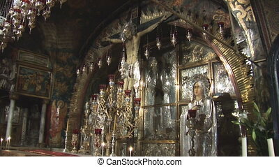 Holy Sepulcher cross - altar in Holy Sepulcher