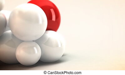 White and Red spheres animated - Color spheres that move...