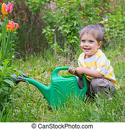 Young Boy In The Garden