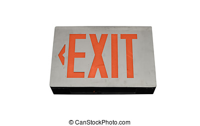 Exit sign in the medical office