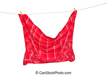 shirt on a clothesline