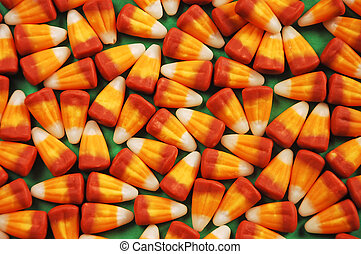 Halloween candy corn - Orange and yellow Halloween candy...