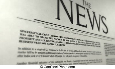 Newspaper cover concept  - Newspaper cover concept