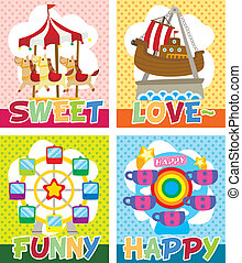 cartoon playground card