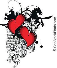heart heraldic5 - heart heraldic in vector format