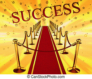 Red carpet and the inscription success