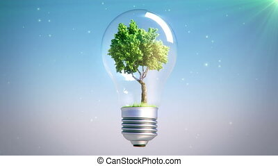 new energy spinning bulb tree loop