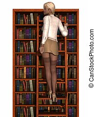 Sexy Secretary  - 3d render of a sexy secretary