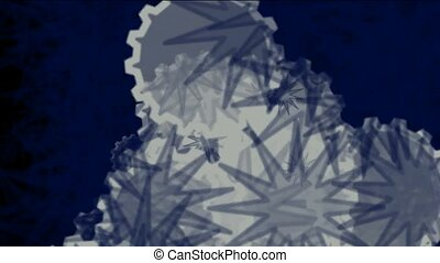 natural microbe,flying snowflake and daisy flower