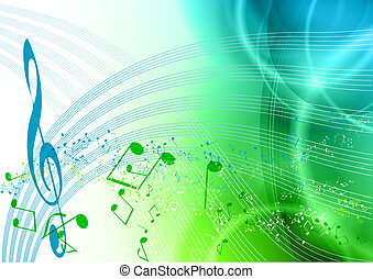 music - blue and green music background