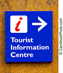 Tourist information Sign On A Wall