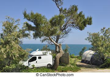 At the camping
