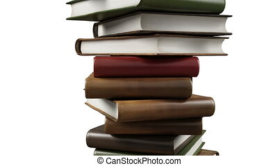 Stack of modern books