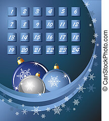 Advent Calendar blue