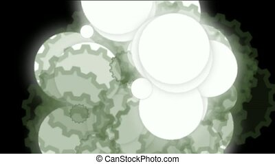 cell nuclear division and copy under microscope,bubbles and...