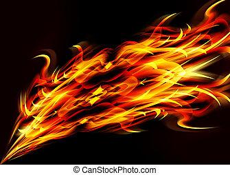 Estratto, fiamme