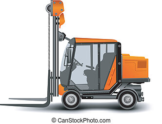 Freight elevator, loading crane, delivery of a cargo