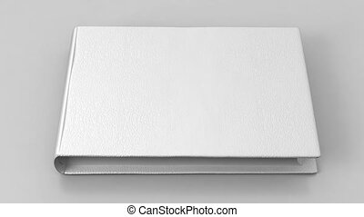 White blank book