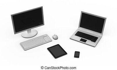 Business devices - pc, laptop, phone, pad