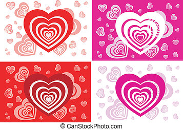 Pattern of card with heart - Pattern of congratulatory card...
