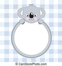 Cute Koala - Vector. Greeting Card