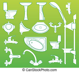 Sanitary technician. - Sanitary technician, washstand, bowl,...