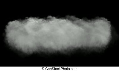 rolling clouds and smoke