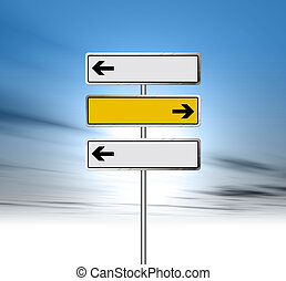 Blank arrow signs