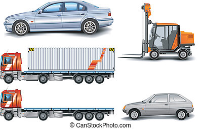 Machine - Different kinds of machine: lorry, freight...