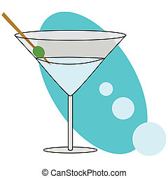 Cocktail - Illustration of a stylish martini cocktail glass
