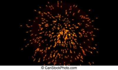 explosion particle and fireworks