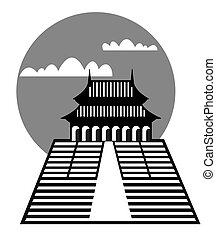 pagoda - vector - Illustration of the pagoda - archetypal...
