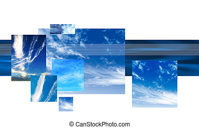 Graphic sky background