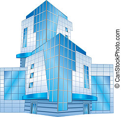 Office building - Conceptual image of office building,...