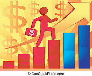 Business illustration for presentation - Businessman with...