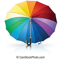 umbrella with rainbow colour vector illustration isolated on...