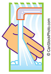 wash hands illustration