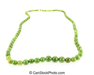 Green gemstone - Green gem stone necklace jewlery, isolated